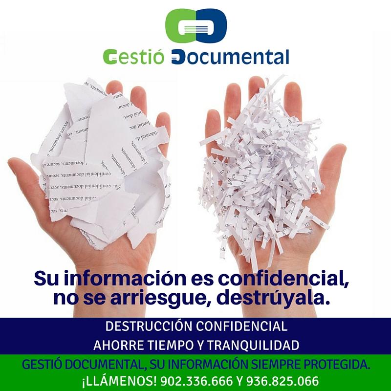 Tu informacion es confidencial, no te arriesgues, destruyela. (1)
